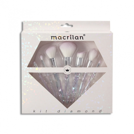 Macrilan Kit Com 7 Pincéis Profissionais Diamond  Ed003