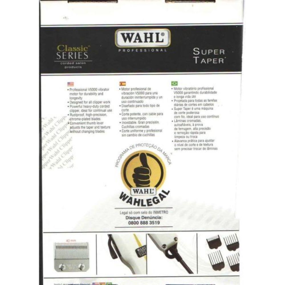 Maquina Corte Cabelo WAHL SUPER TAPER V5000 Uso Profissional