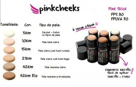 Pink Cheeks Pink Stick 10KM FPS 90 - Protetor Solar com Cor 14g