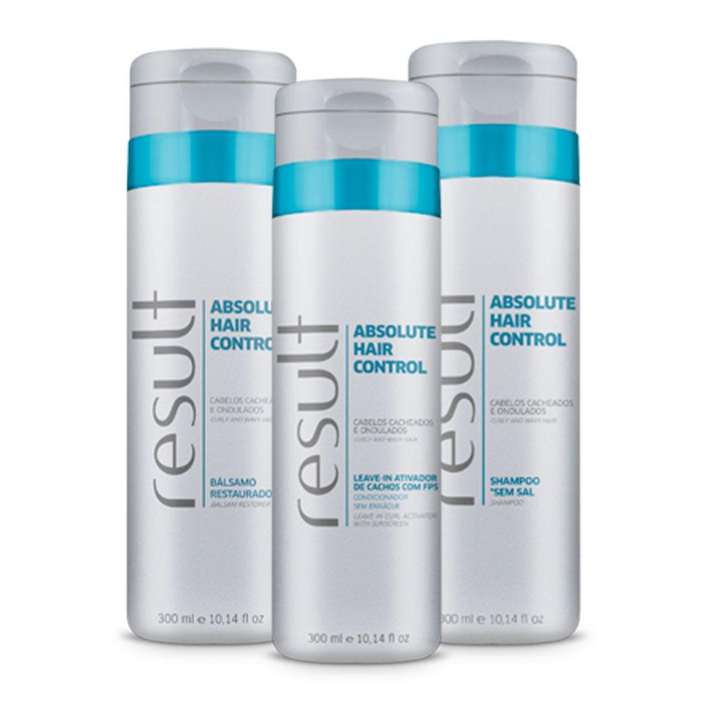 Result Absolut Hair Control Shampoo + Balsamo + Ativador Cacho