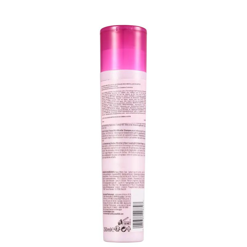 Schwarzkopf BC Bonacure pH 4.5 Color Freeze Micellar Rich - Shampoo 250ml