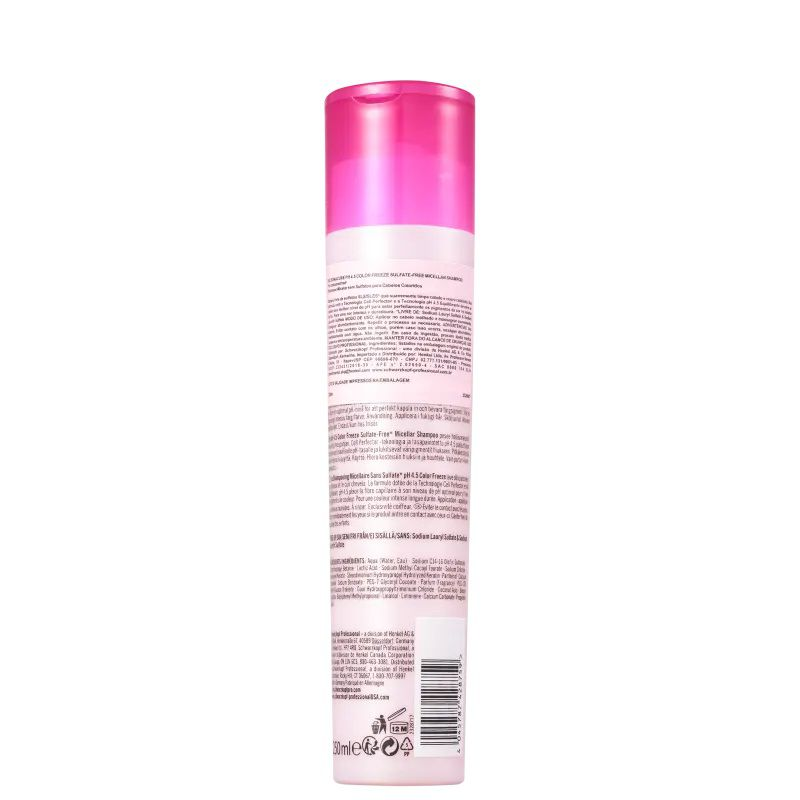 Schwarzkopf BC Bonacure pH 4.5 Color Freeze Micellar - Shampoo sem Sulfato 250ml