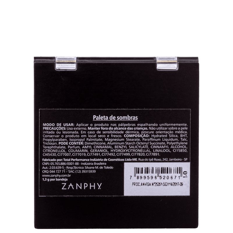 Zanphy 9 Cores N.01 - Paleta de Sombras 11,7g