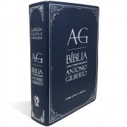 Bíblia Com Comentários de Antônio Gilberto - Azul
