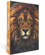 Bíblia com Harpa Cristã Jovem - Capa Dura Leão