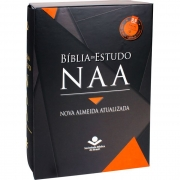 Bíblia de Estudo Nova Almeida Atualizada - NAA - Couro Legítimo