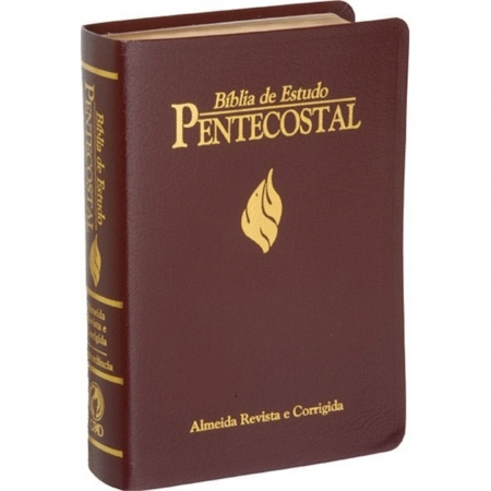Bíblia de Estudo Pentecostal - Média - Vinho