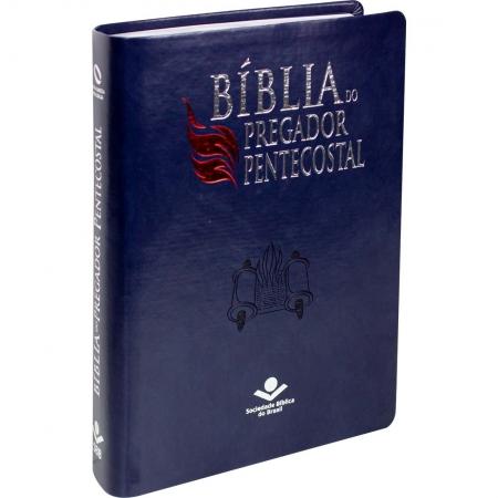 Bíblia do Pregador Pentecostal NAA - Azul Nobre