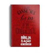 Bíblia em Ação de Estudo - Capa Luxo Vermelha