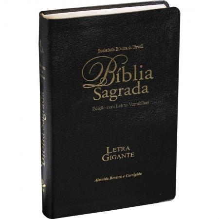Bíblia Letra Gigante RC Capa Preta Com Índice