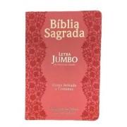 Bíblia Letra Jumbo Capa Luxo - Flores