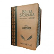 Bíblia Letra Jumbo com Harpa Avivada e Corinho