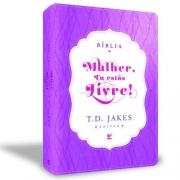 Bíblia Mulher, Tu Estás Livre! - Capa Luxo - Com Índice- Produto Reembalado