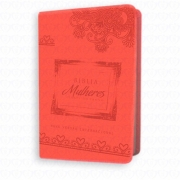 Bíblia Mulheres Diante do Trono - NVI  Coral- Produto Reembalado