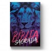 BÍBLIA NAA LEÃO AZUL-Capa Dura