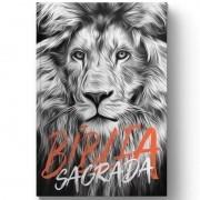 Bíblia Sagrada - Leão Preto e branco (Capa Dura)
