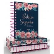 Bíblia NVI Anote Espiral Especial Rosas