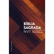 Bíblia NVT Letra Grande - Madeira Triângulos