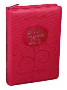 Bíblia RA Letra Gigante com Zíper e Índice - Pink