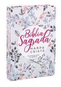 Bíblia Sagrada com Harpa Cristã - Letra Grande Floral