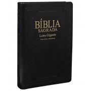 Bíblia Sagrada Letra Gigante Ra Com Índice - Capa Preta