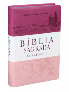 Bíblia Sagrada Letra Gigante RA - Triotone Pink