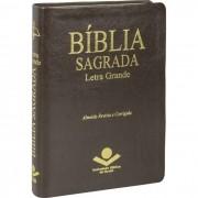 Bíblia Sagrada Letra Grande Revista e Corrigida Capa Marrom