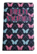 Bíblia Sagrada Letra HiperGigante - Capa Borboleta Azul e Rosa