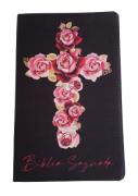 Bíblia Sagrada Letra HiperGigante - Capa Cruz - Flores Rosas