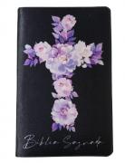 Bíblia Sagrada Letra HiperGigante - Capa Cruz - Flores Lilás