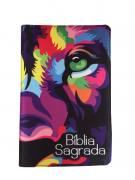 Bíblia Sagrada Letra HiperGigante - Capa Leão Colorida