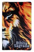 Bíblia Sagrada Letra HiperGigante - Capa Leão Fogo