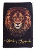 Bíblia Sagrada Letra HiperGigante - Capa Leão - Preta