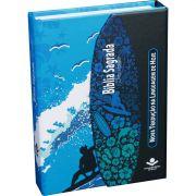 Bíblia Sagrada Letra Maior com Fonte de Bênçãos - Surf