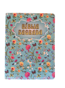 Bíblia Sagrada Media Fina (Floral verde escuro)