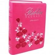Bíblia Sagrada NAA Letra Gigante Com Ídice - Flores