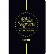 Bíblia Sagrada NVI - Extra Gigante - Capa Luxo Preta