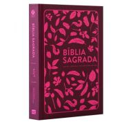 Bíblia Sagrada NVT Capa Dura - Folhas - Pink