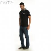 Camisa Polo Masculina Cotton Preta Norte - Classic
