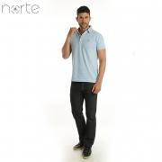 Camisa Polo Masculina Piquet Azul BB Norte - Classic