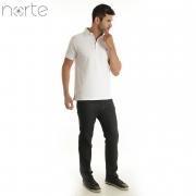 Camisa Polo Masculina Piquet Branco Norte - Classic