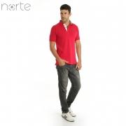 Camisa Polo Masculina Piquet Vermelho Norte - Classic