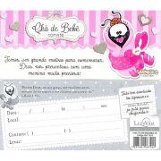 Convite Chá de Bebê Menina - Pacote com 50 Unidades