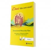 Livro Devocional Mesa dos Pães - Deus Fala com você? Vol. 1