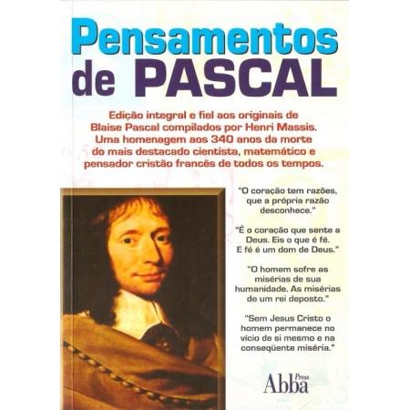 Livro Pensamento de Pascal