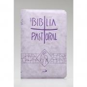 Nova Bíblia Pastoral - Bolso - Zíper -Capa Lilás