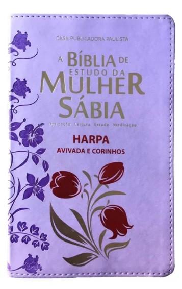 A Bíblia de Estudo da Mulher Sábia RC Com Harpa e Zíper