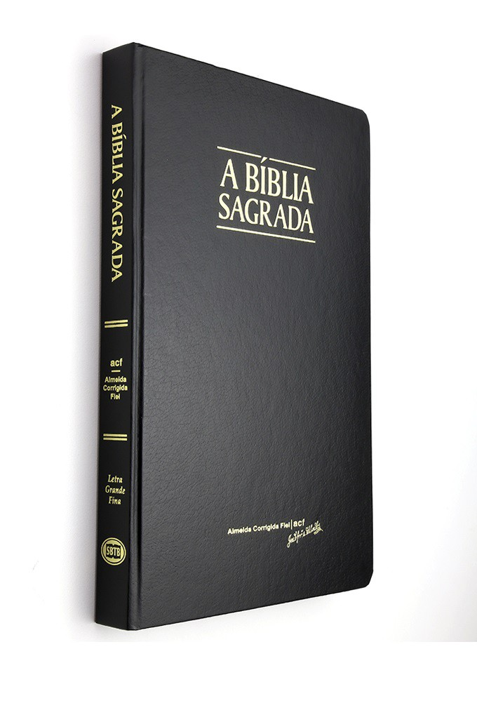 Bíblia ACF Letra Grande Fina - Semi Luxo
