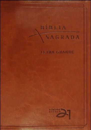 Bíblia Almeida Século 21 Letra Grande Luxo - Capa Couro Sintético