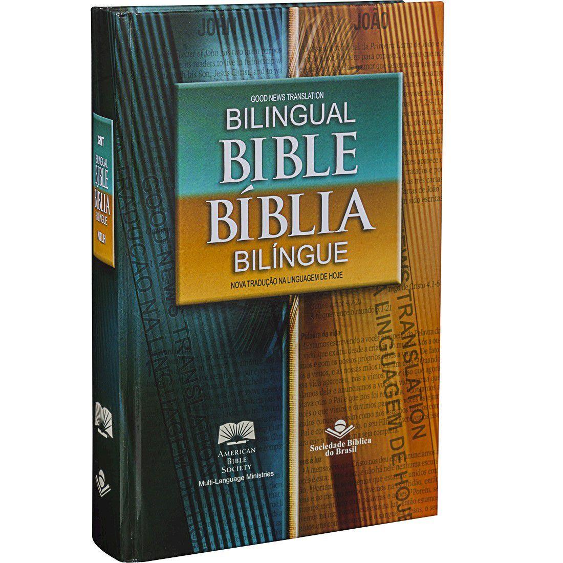 Bíblia Bilíngue Português ? Inglês Capa Dura